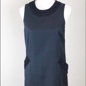 Ann Taylor Loft Petite Sleeveless Ruffle Dress